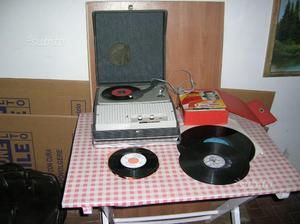 Radiodischi Cosmophon/valigetta con dischi in reg