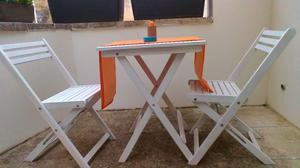 tavolo e sedie in legno come nuovi