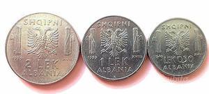 """3 monete """"Albania italiana"""""""