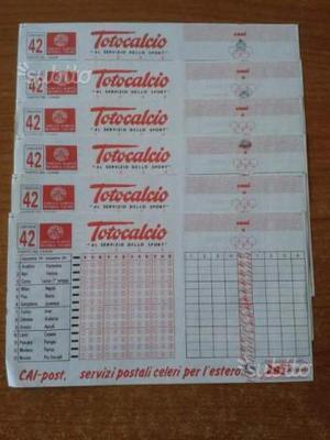 Lotto di 14 Schedine Totocalcio