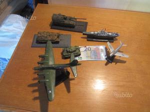 Modellini tanks, aerei e nave