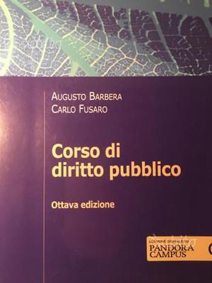 Corso di Diritto Pubblico, A. Barbera, C. Fusaro