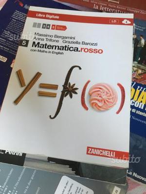 """Libro scolastico """"matematica rosso"""" volume 5"""