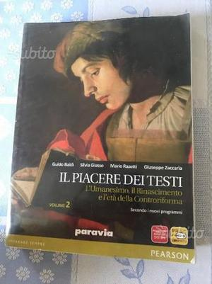 """Libro usato """"Il Piacere Dei Testi"""""""