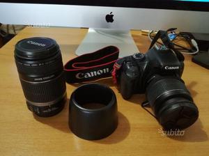 Reflex Canon EOS 450d + teleobiettivo, flash