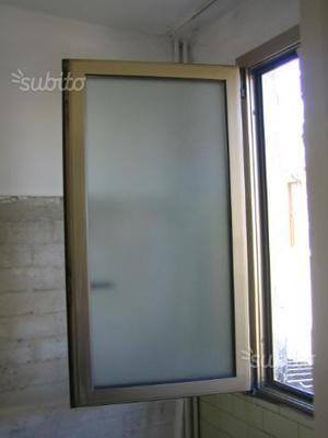 Finestra alluminio con doppio vetro e asti posot class - Finestre doppio vetro con gas ...