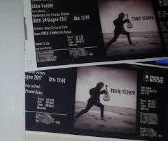 Eddie Vedder Firenze rocks 2 biglietti 24 giugno