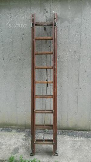 Scala in legno allungabile