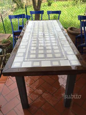 Vecchio tavolo in ferro da esterno vintage posot class - Tavoli in ferro da esterno ...