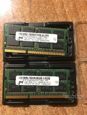 N.2 Moduli memoria RAM PC3 da 2GB SODIMM