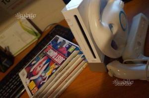 Nintendo Wii (6 Giochi, Volante WII + accessori)