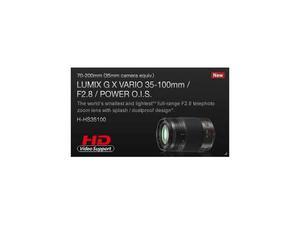 OBIETTIVO Lumix G X Vario mm F2,8 HD