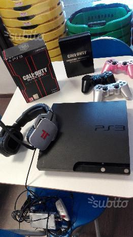 PS3 SLIM più giochi e cuffia tritton
