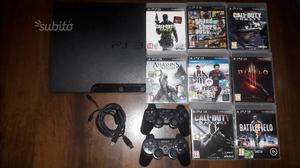 Playstation 3 slim con 8 giochi