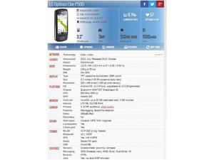 cellulare smartphone lg p500 top usato euro 39