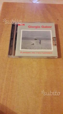 2 cd giorgio gaber e pensare che c'era il pensiero
