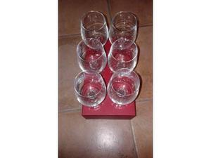 Bicchieri in vetro soff.per vino
