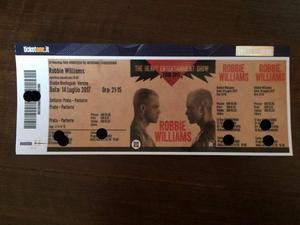 Biglietti concerto Robbie Williams del 14 luglio Verona