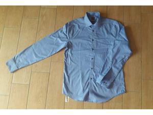 Camicia uomno Calvin Klein azzurra