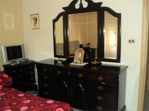 Como' + 2 comodini per camera da letto legno specchiera