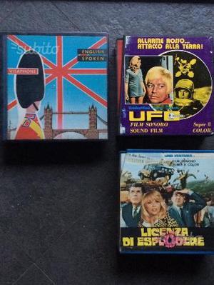 Due film in bobine super8 e corso inglese 45 giri