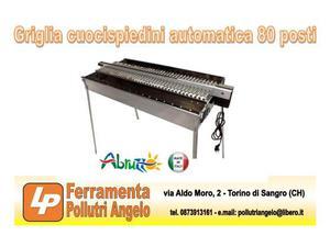 Griglia cuoci spiedini (arrosticini) automatica 80 posti