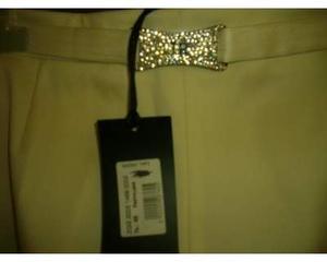 Pantaloni bianchi eleganti john richmond tg 46 nuovi con