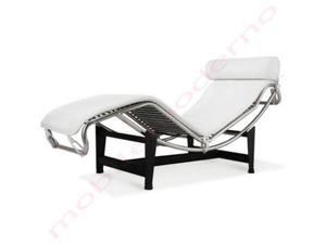 Poltrona divano chaise longue ecopelle bianca posot class for Poltrona chaise longue