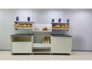 Retrobanco pane da 3 mt. con mobile pane,n.1 a giorno,n.1