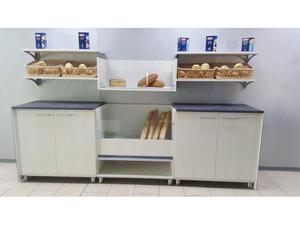 Retrobanco pane da 3 mt.: mobile pane e n.2 mobili ad ante