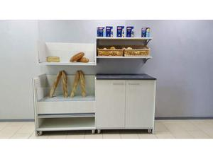 Retrobanco panetteria da 2 mt. con mobile pane e mobile ad