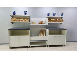 Retrobanco panetteria da 3 mt. con mobile pane e mobili a