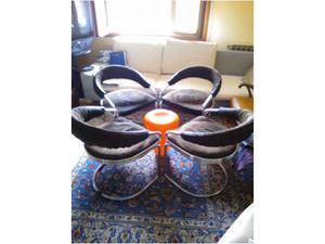 Set 4 sedie vintage anni 60 design Stoppino Rinaldi.