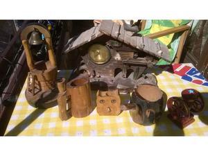 X amatori del legno e peltro, vari oggetti
