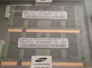 NUOVE MEMORIA RAM SAMSUNG 4GB 2Rx8 PCS