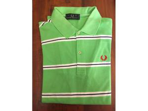 Polo Fred Perry a righe verde