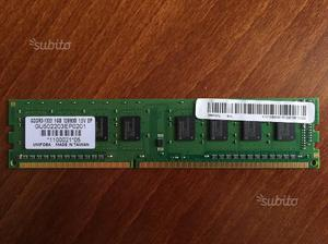 RAM 2GB 1GB DDR3 per pc fisso