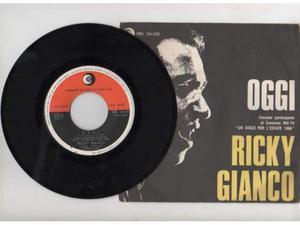 RARO Ricky GIANCO 45 NUOVO ''oggi'' 1a STAMPA 66