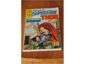 Raccolto supereroi n. 37: thor la terra e' in pericolo