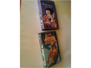 Vhs Biancaneve e Tarzan