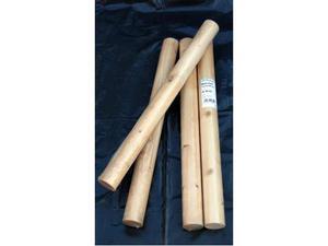 4 tondi in legno massiccio, 600 x 52 mm