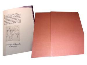 Aretino Pietro sonetti lussuriosi + acqueforti di Maccari