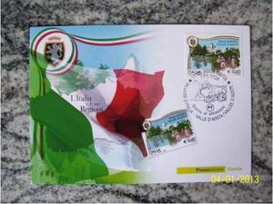 Cartolina filatelica FDC  Regione Valle d'Aosta (Aosta).