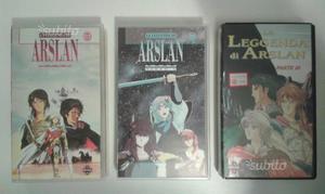 Collezione completa VHS la leggenda di Arslan