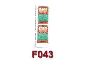 F043 - lotto 02 pz. Marche Atti giudiz. lire  numero