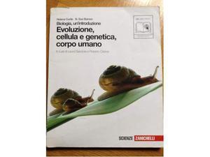 Libro di biologia Evoluzione, cellula e genetica, corpo