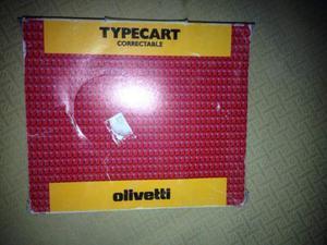 Nastro ad inchiostro nero Olivetti per macchina da scrivere.