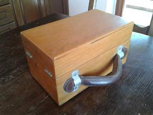 Valigetta da esposizione in legno massello