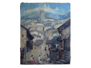 Carlos Alonso, pittore: dipinto a olio su tela