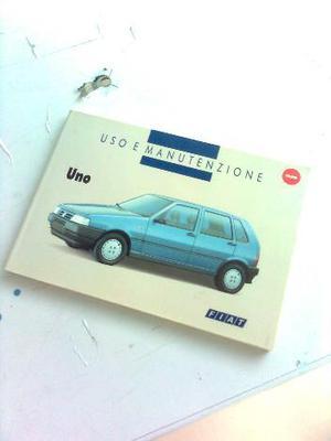 Manuale uso e manutenzione Fiat Uno